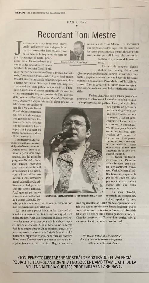 El punt. Josep Luís Domenech.